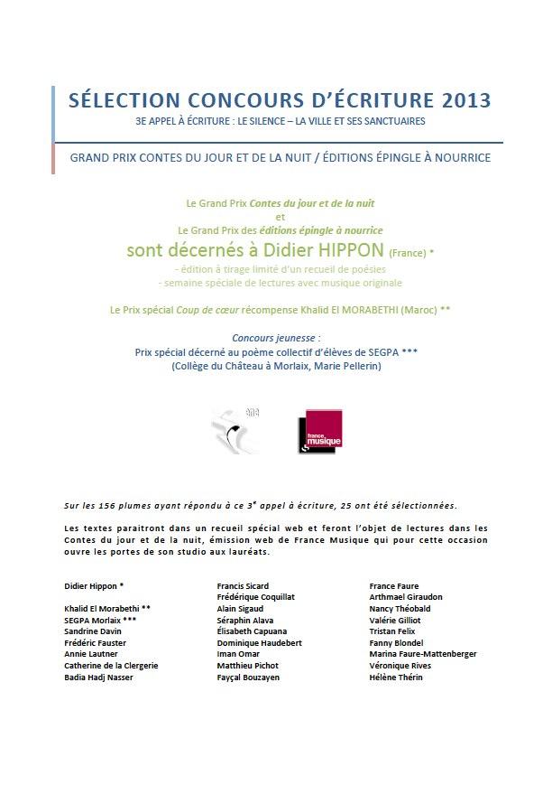 Le Prix Spécial Coup De Cœur Sélection Concours Décriture