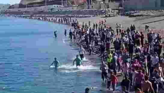 Tsunami migratoire dans le préside occupé de Sebta en ce beau printemps