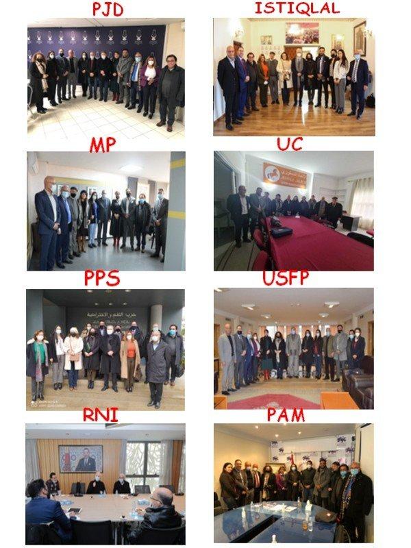 تنسيقية ممثلي الاحزاب السياسية المغربية بالخارج تعديل مشروع القانون التنظيمي رقم 04.21 ضرورة وطنية و دستورية