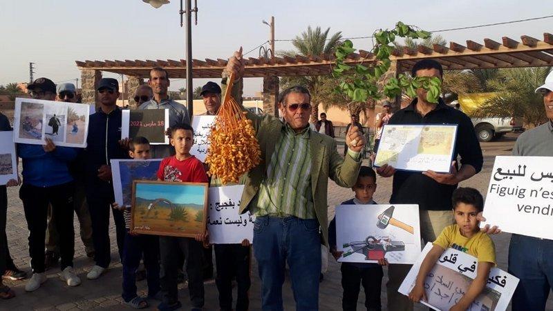 ساكنة فيجيج تصر على مطلبها المتعلق بتشبثها بضيعات العرجة التي استولت عليها السلطات الجزائرية
