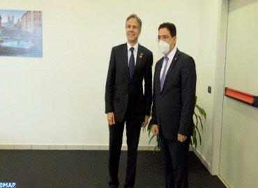 M. Bourita s'entretient à Rome avec le Secrétaire d'État américain Antony Blinken