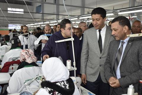 رئيس جهة الشرق يدشن وحدة صناعية للنسيج بإقليم جرسيف لخلق مناصب